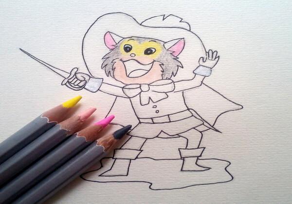 Как нарисовать кота в сапогах карандашом поэтапно - шаг 8