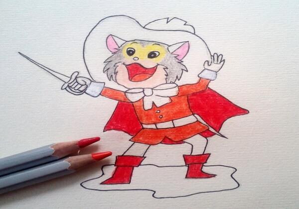Как нарисовать кота в сапогах карандашом поэтапно - шаг 9