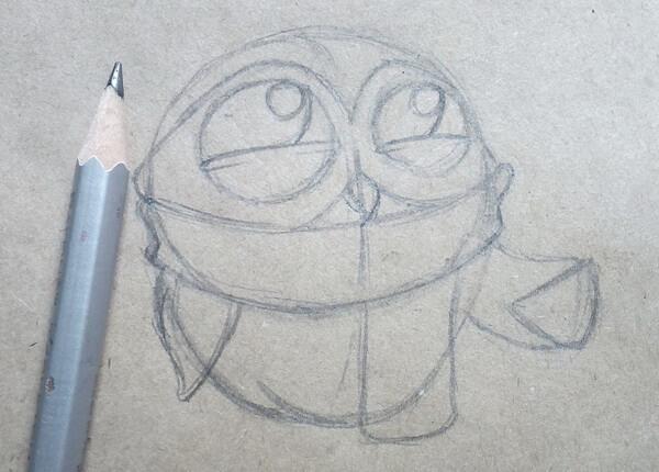 Поэтапный рисунок забавной совы - шаг 4