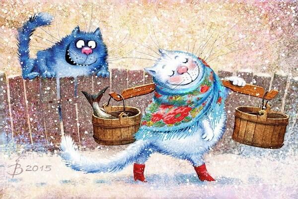 Биография художницы Ирины Зенюк и её синие коты