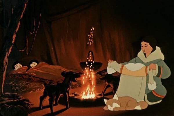 Лучшие советские мультфильмы про зиму - «В яранге горит огонь» (1956)