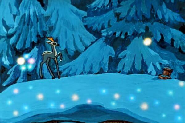 Советские мультфильмы про зиму - «Серебряное копытце» (1977)