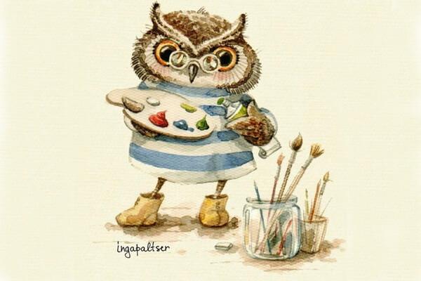 Милые иллюстрации Инги Пальцер