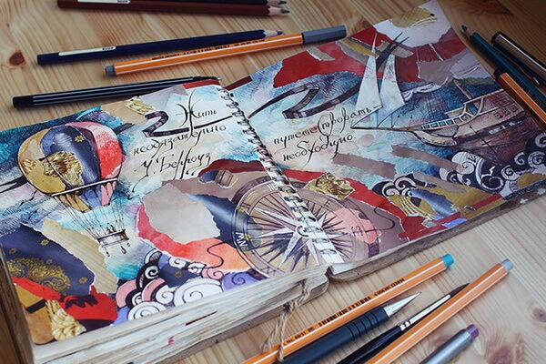 Творческие блокноты с фото и описанием - Артбуки