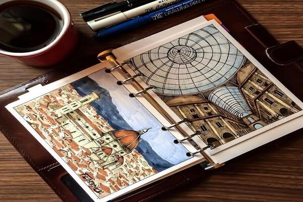 Творческие блокноты и их виды - Скетчбук