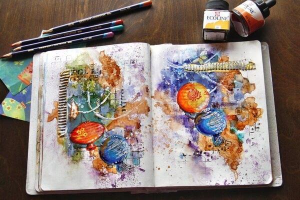 Творческие блокноты и их виды - Фото скетчбуков для вдохновения