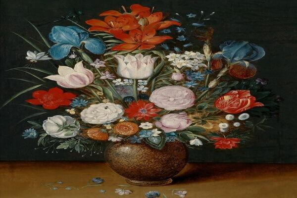 Тюльпаны в живописи - Ян Брейгель Младший - «Ваза с цветами»
