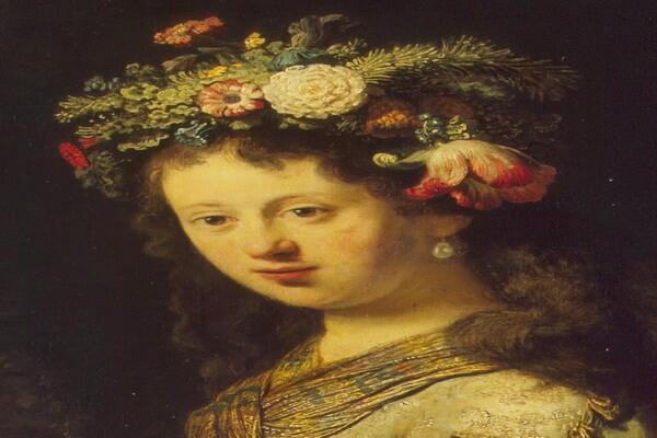 Тюльпаны в живописи - Рембрандт «Флора»
