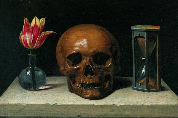 Тюльпаны в живописи - Филипп де Шампань «Напоминание о неизбежности смерти»
