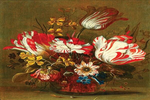 Тюльпаны в живописи - Ханс Гиллис Болоньер «Цветы»