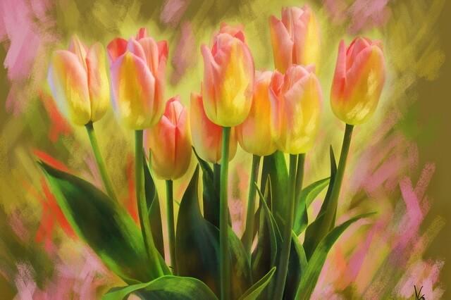 Тюльпаны в живописи - самые известные картины с названиями и описанием