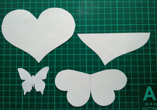Открытка-валентинка пошагово - шаг 1
