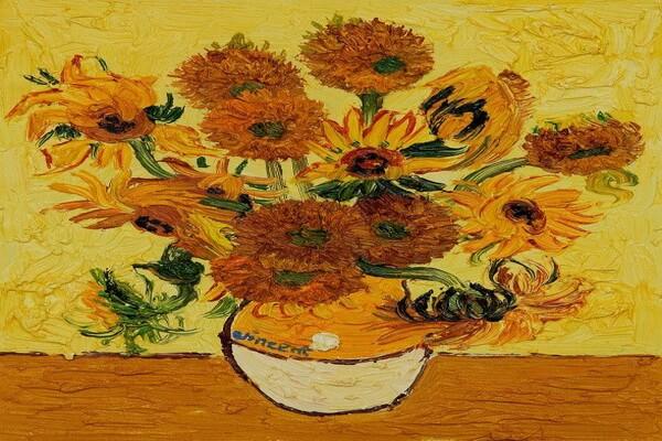 Подсолнухи на картинах Ван Гога