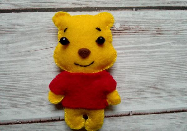 Винни-Пух из фетра - игрушка своими руками