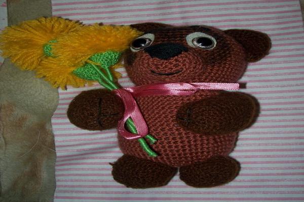 Вязанная игрушка своими руками - Винни-Пух