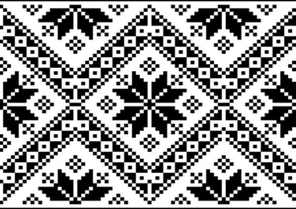 Вышивка крестом - Blackwork