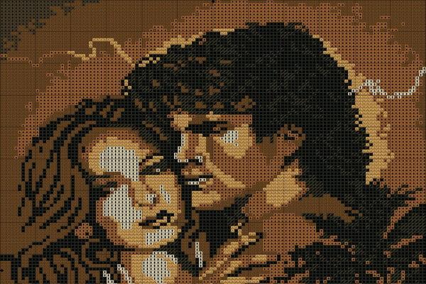 Вышивка для привлечения любви - Пара влюблённых людей