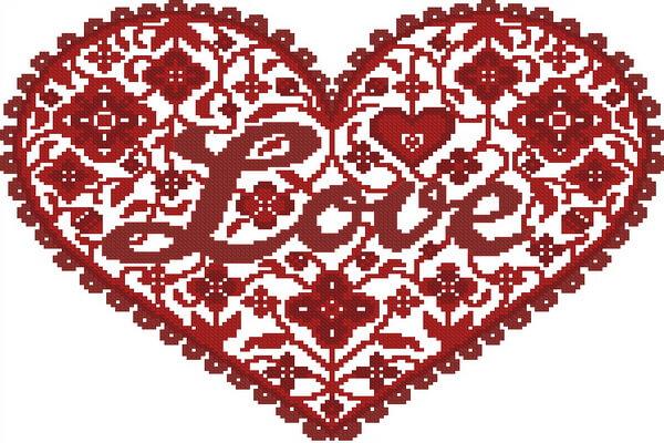 Вышивка для привлечения любви - Сердце