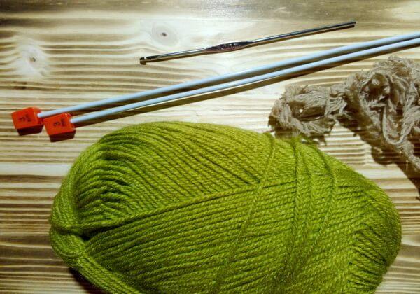 Вязаная подставка под кружку - инструменты и материалы для создания