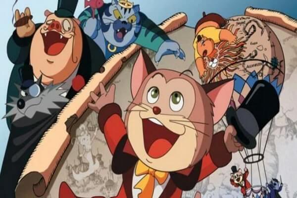"""Японский мультфильм """"Кругосветное путешествие Кота в сапогах"""""""