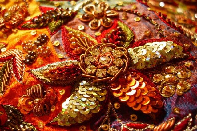 Индийская вышивка зардози - история и особенности техники вышивания