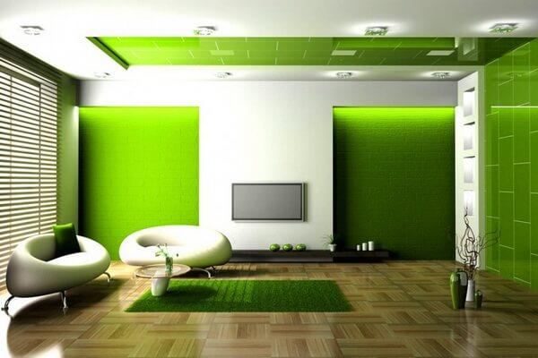Зелёный цвет в дизайне интерьера - фото и идеи для вдохновения