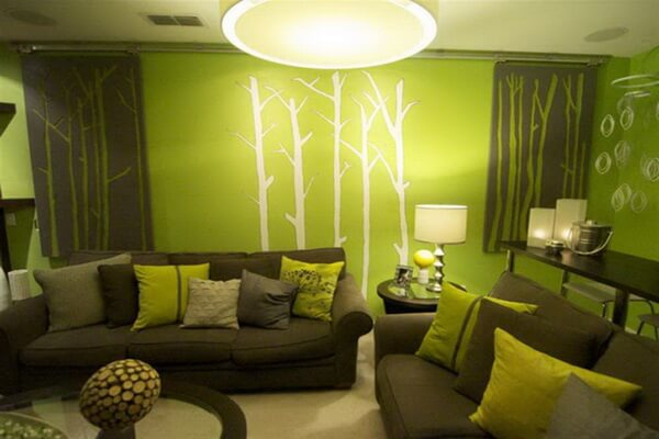 Дизайн интерьера в зелёном цвете - идеи для вдохновения