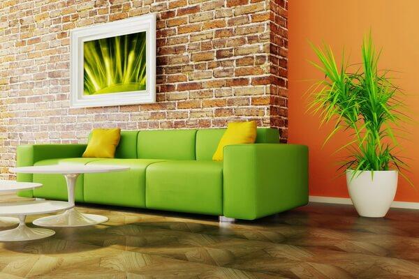 Зелёный цвет в дизайне интерьера - фото для вдохновения