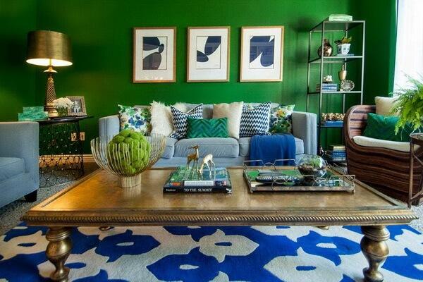 Зелёный цвет в дизайне интерьера - интересные идеи оформления