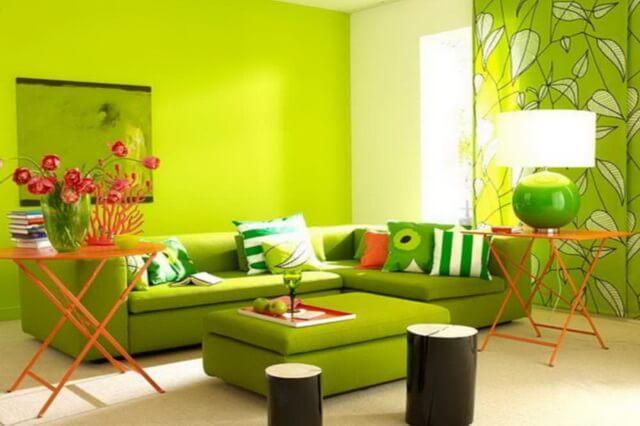 Зелёный цвет в дизайне интерьера