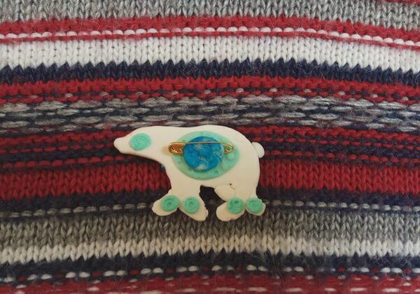 Зимняя брошь из полимерной глины своими руками - пошаговый мастер-класс